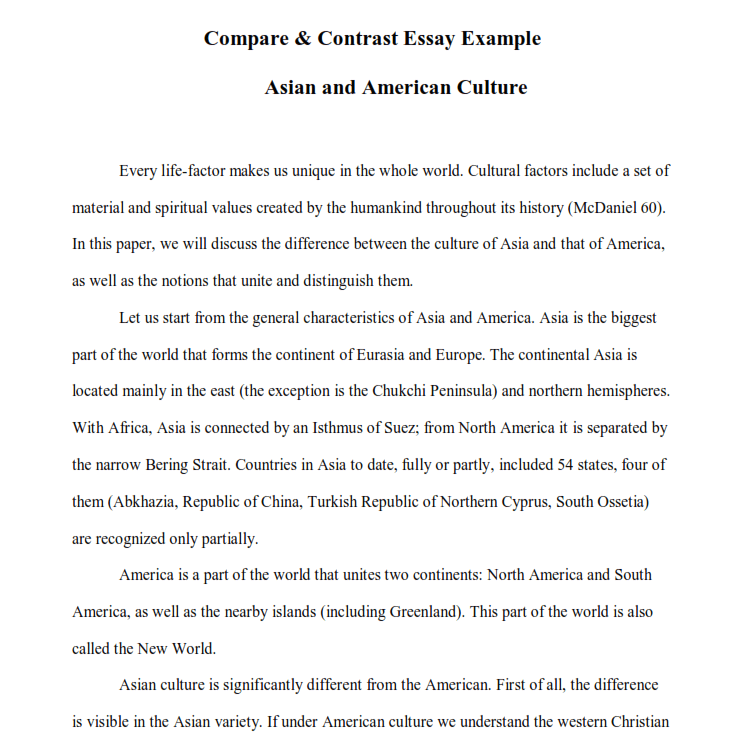 compare and contrast essay  complete writing guideline