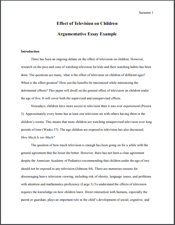 argumentative essay writing structure  example  useful hints download